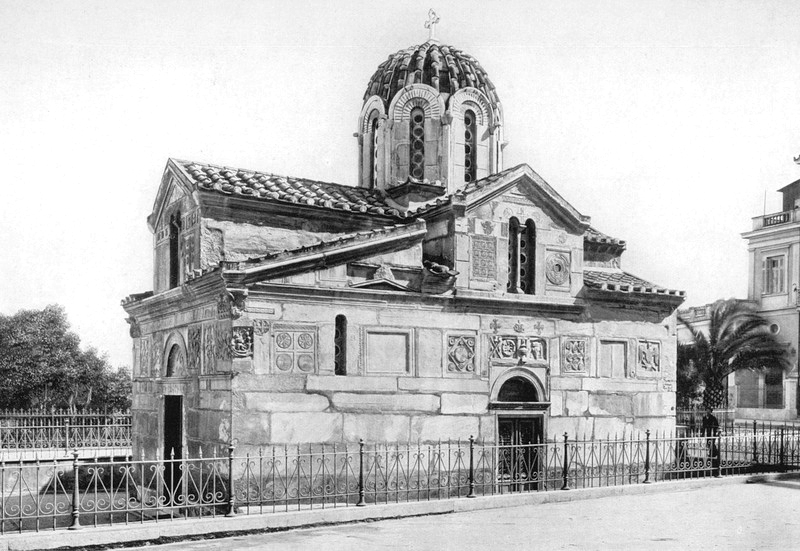 The church of St. Eleftherios. (Photograph by Ernst Reisinger in 1923.)