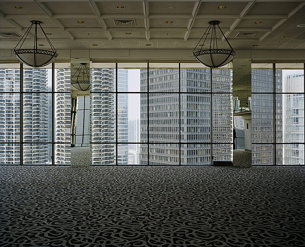 Marina Towers seen from Hotel 71, Chicago USA, 2011