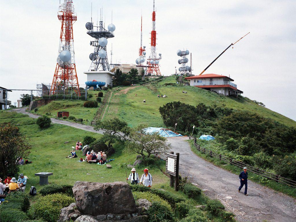 Mountain with antennas Kitakyushu, Japan, 2006