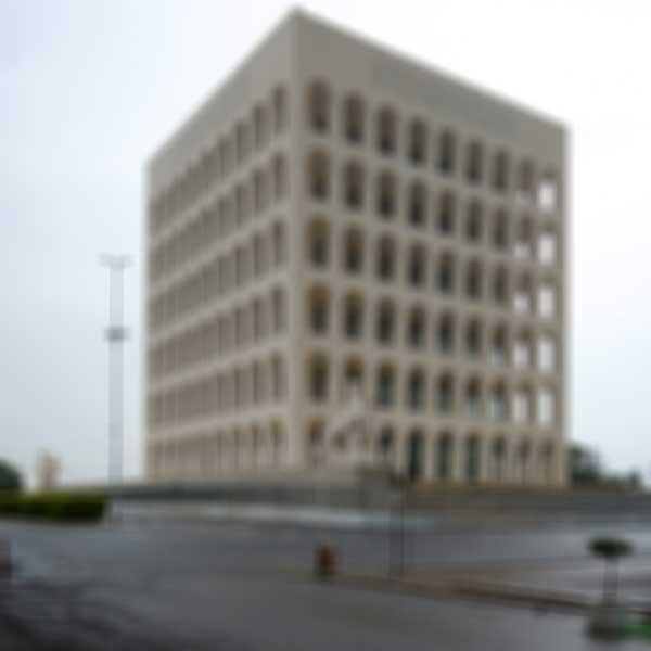 05-Palazzo-della-Civiltà-Italiana-by-Ernesto-Lapadula,-Giovanni-Guerrini-and-Mario-Romano,-Photograph-2014